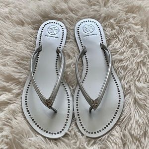 Tory Burch Liana thong sandals in silver